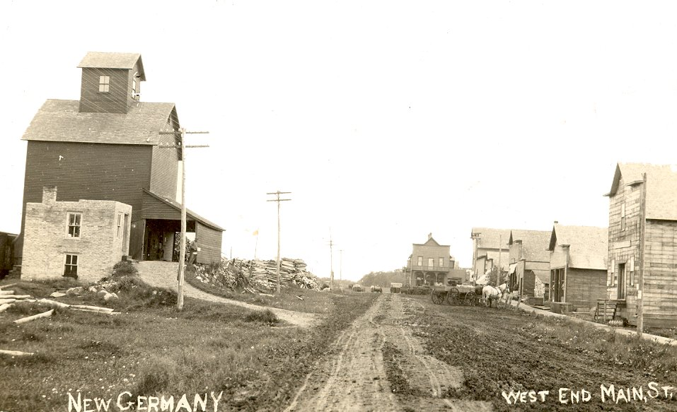 Main Street of New Germany as it looked in 1908  Av6492