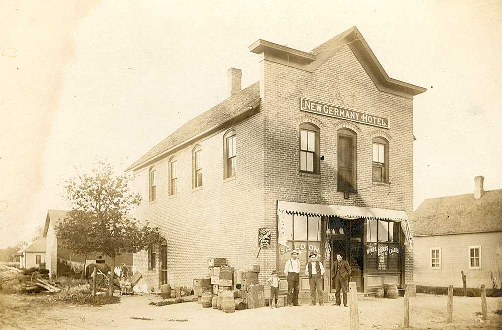 New Germany Hotel and Drug store in 1904  Av6651